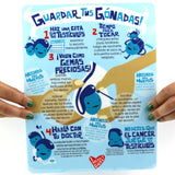 Grab Your Gonads Testicle Self-Exam Card - Bilingual