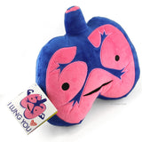 Lungs Plush - I Lung You - Plush Organ Stuffed Toy Pillow