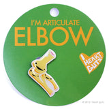 Elbow Lapel Pin - I'm Articulate