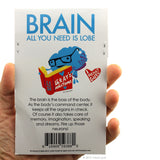 Bag of Brain Stickers - 15 Brain Stickers