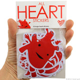 All Heart Stickers - 15 Heart Stickers