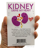 Share Your Kidneys Stickers - 15 Kidney Stickers