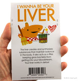 Love Your Liver Stickers - 15 Liver Stickers