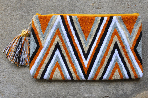 Arrows Clutch Burnt Orange
