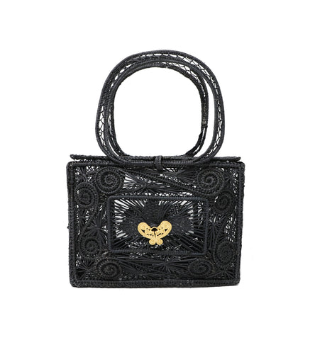 Mariposa Box Clutch in Black