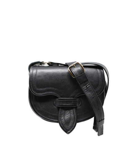 Medallo Black Leather Bag