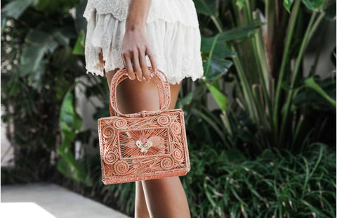 Mariposa Box Clutch in Blush Nude