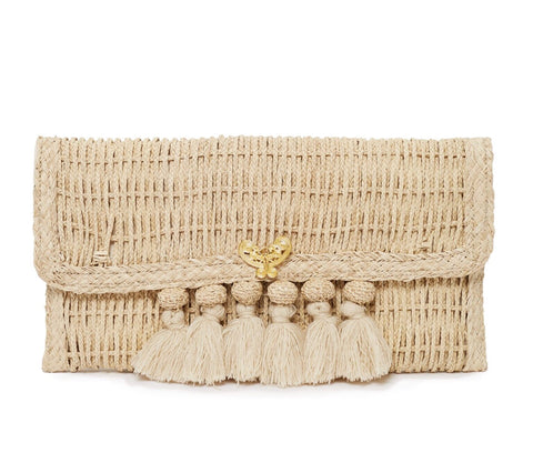 Mariposa Straw Clutch