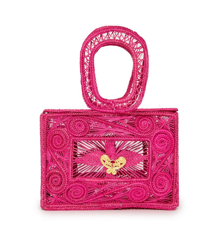 Mariposa Box Clutch in Pink