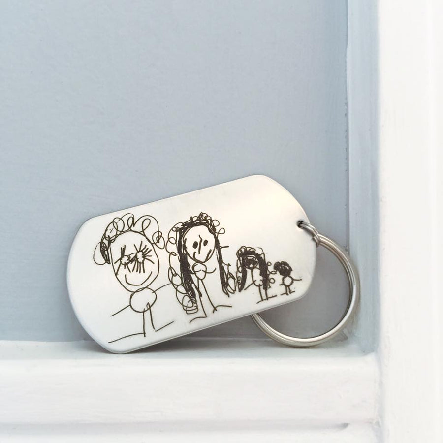 Custom Handwriting Key Chain