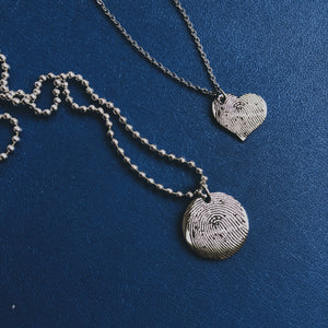 Custom Hand or Fingerprint Necklace
