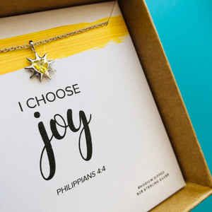 i choose joy necklace