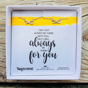 always there bff necklace set
