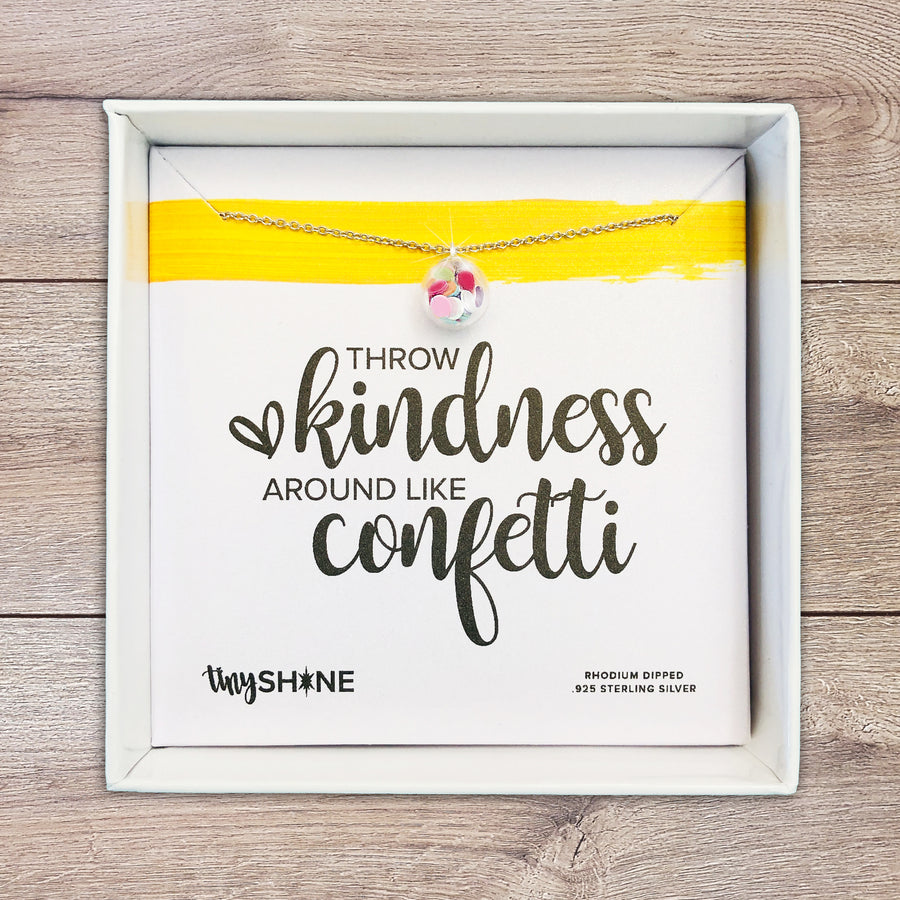 kindness like confetti necklace ~ youth