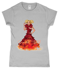 Load image into Gallery viewer, Scarlett BoBo - Clown On Fire Ladies T-Shirt