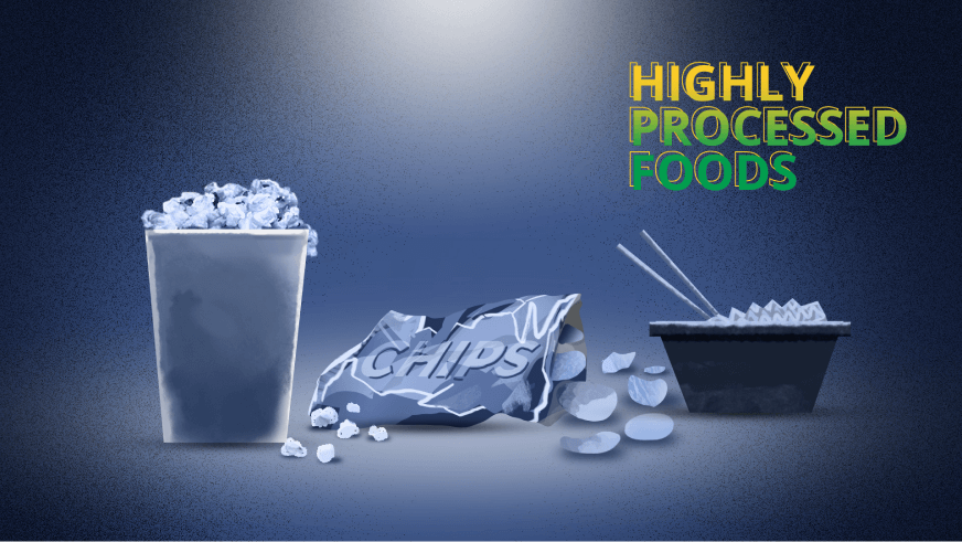 highly-processed foods that cause brain fog like chips, noodles and popcorn should be avoided.
