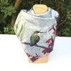 HUMMINGBIRD - 26-inch Square Charmeuse Scarf or Wall Hanging