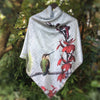 RUFOUS HUMMINGBIRD - 50-inch Square Charmeuse Scarf or Wall Hanging