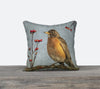 Robin with Berries — Bird Cushion Cover