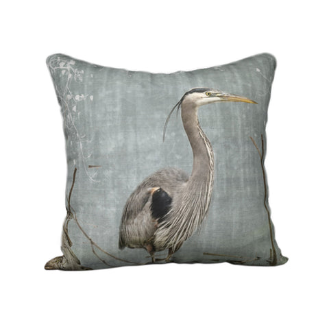 Blue Heron — Bird Cushion Cover