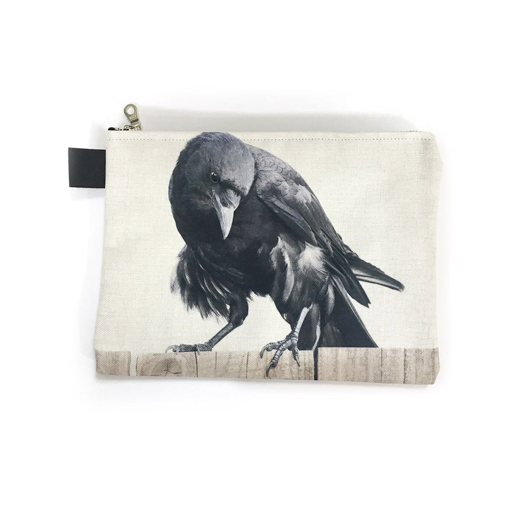 Fluffy Pants Crow Zippered Carry-All