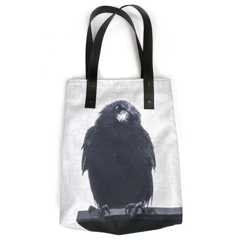 Philosopher Crow Tote Bag/Over-Sized Handbag