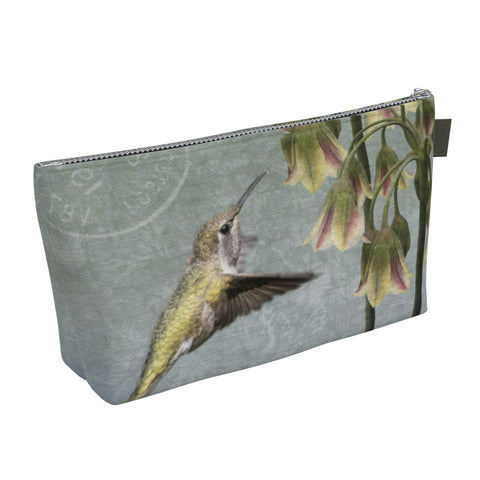 Anna's Hummingbird Zippered Make Up Bag