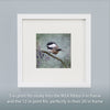 BLACK CAPPED CHICKADEE - Fine Art Print, Garden Birds Series