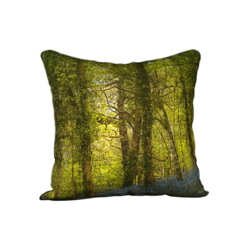 Bluebell Woods 3 Canvas Cushion Cover — NEW SALE PRICE