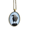 CROW SHADOW - Large Glass Pendant