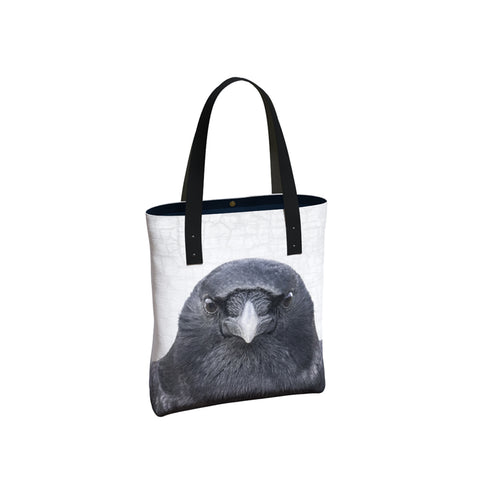 Eye to Eye Crow Tote Bag/Over-Sized Handbag