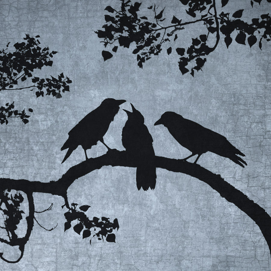 CROW FAMILY - Fine Art Print, Blue Crow Series