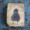 FLUFFY MABEL - One of a Kind Encaustic Panel