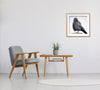 FORMAL CROW - Fine Art Print, Crow Portrait Series