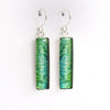ANNA'S HUMMINGBIRD FEATHERS - Rectangular Earrings, Silver and Resin