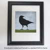 LOOKING BACK - Fine Art Print, Blue Crow Series