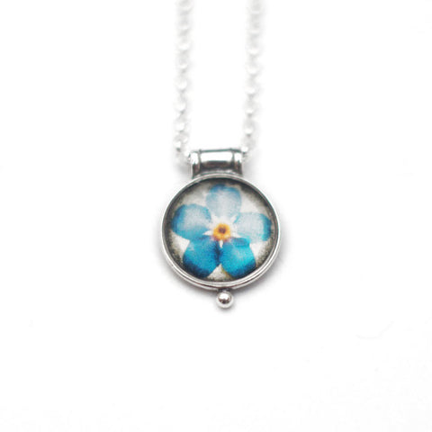 TINY FORGET-ME-NOT - Miniature Pendant, Nature Jewelry