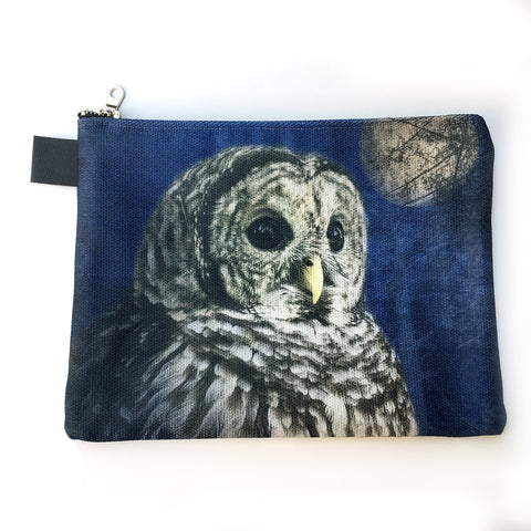 Night and Day Owl Zippered Carry-All