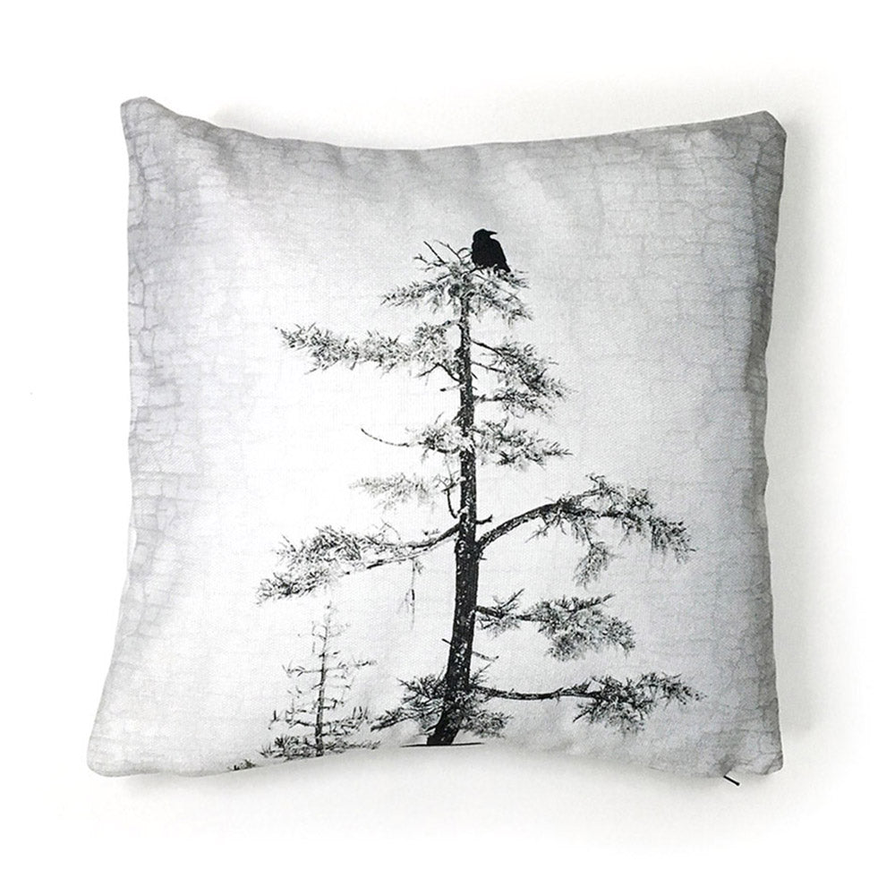 Raven Peace Canvas Cushion Cover