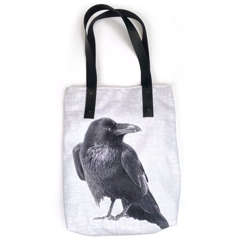 Raven Looks Back Tote Bag/Over-Sized Handbag