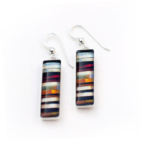 RIBBON - Long Rectangular Earrings, Vancouver Jewelry