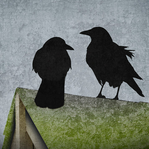 ROOF COUPLE - Fine Art Print, Blue Crow Series