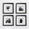 LOVE BIRDS - Fine Art Print, Crow Portrait Series