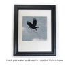 SKY MESSENGER - Fine Art Print, Blue Crow Series