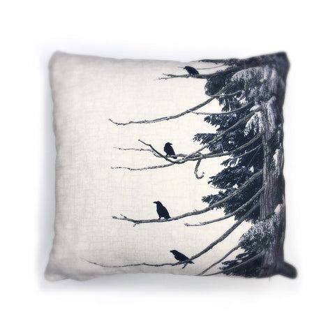 Strata Ravens Canvas Cushion Cover
