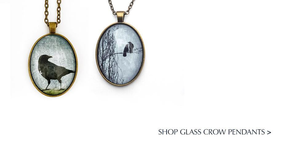 June Hunter Cotton Tote Bags with Crow Design/Photography