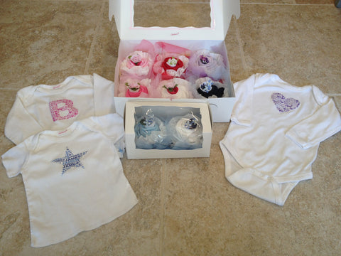 Cupcake personalized onesies or t-shirts
