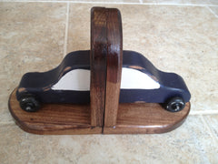 Bookends - hand-crafted wood car