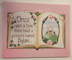 Princess stretched canvas art