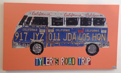 Road trip stretch canvas art